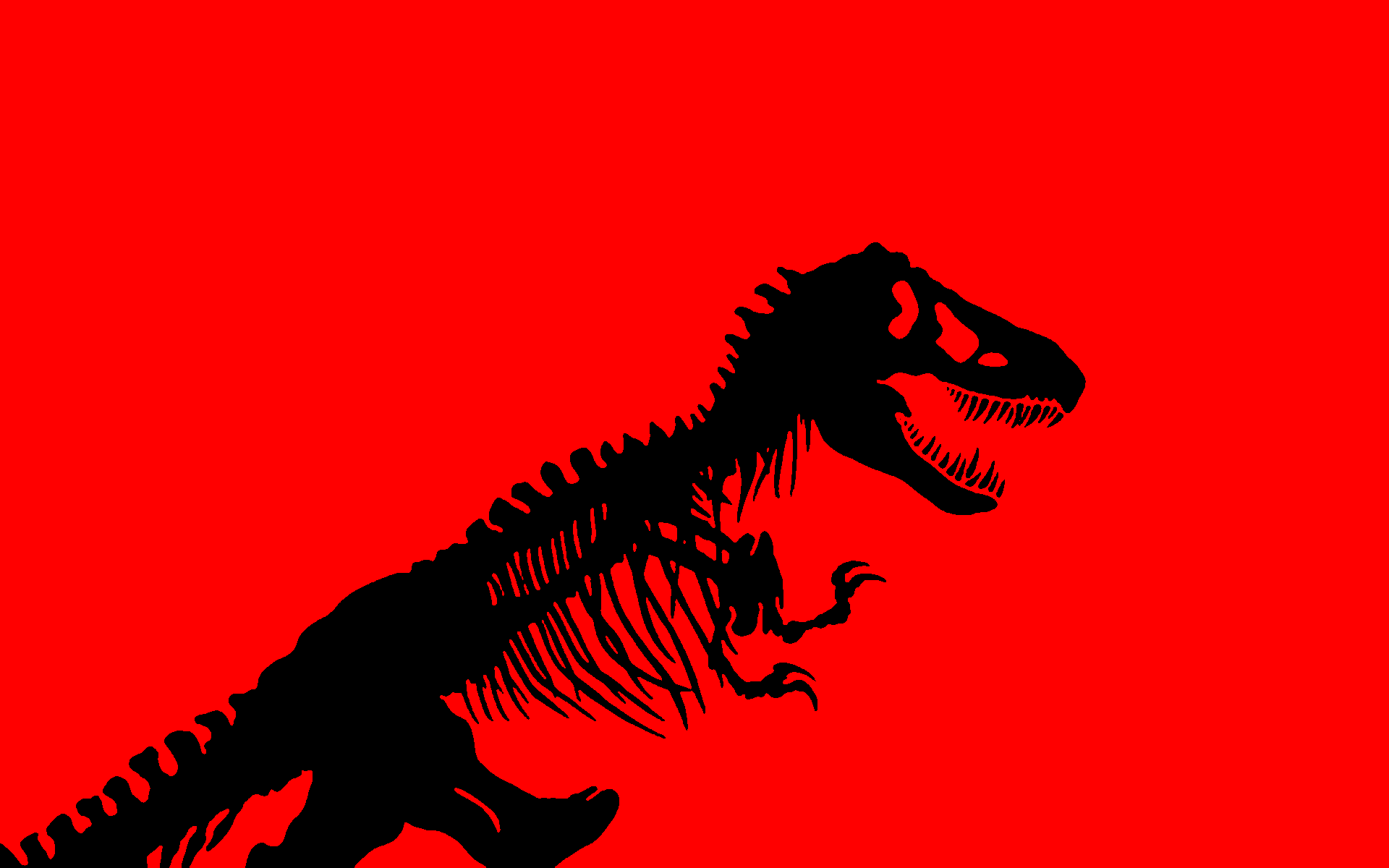 Red Dinosaurs Jurassic Park Tyrannosaurus Rex Simple