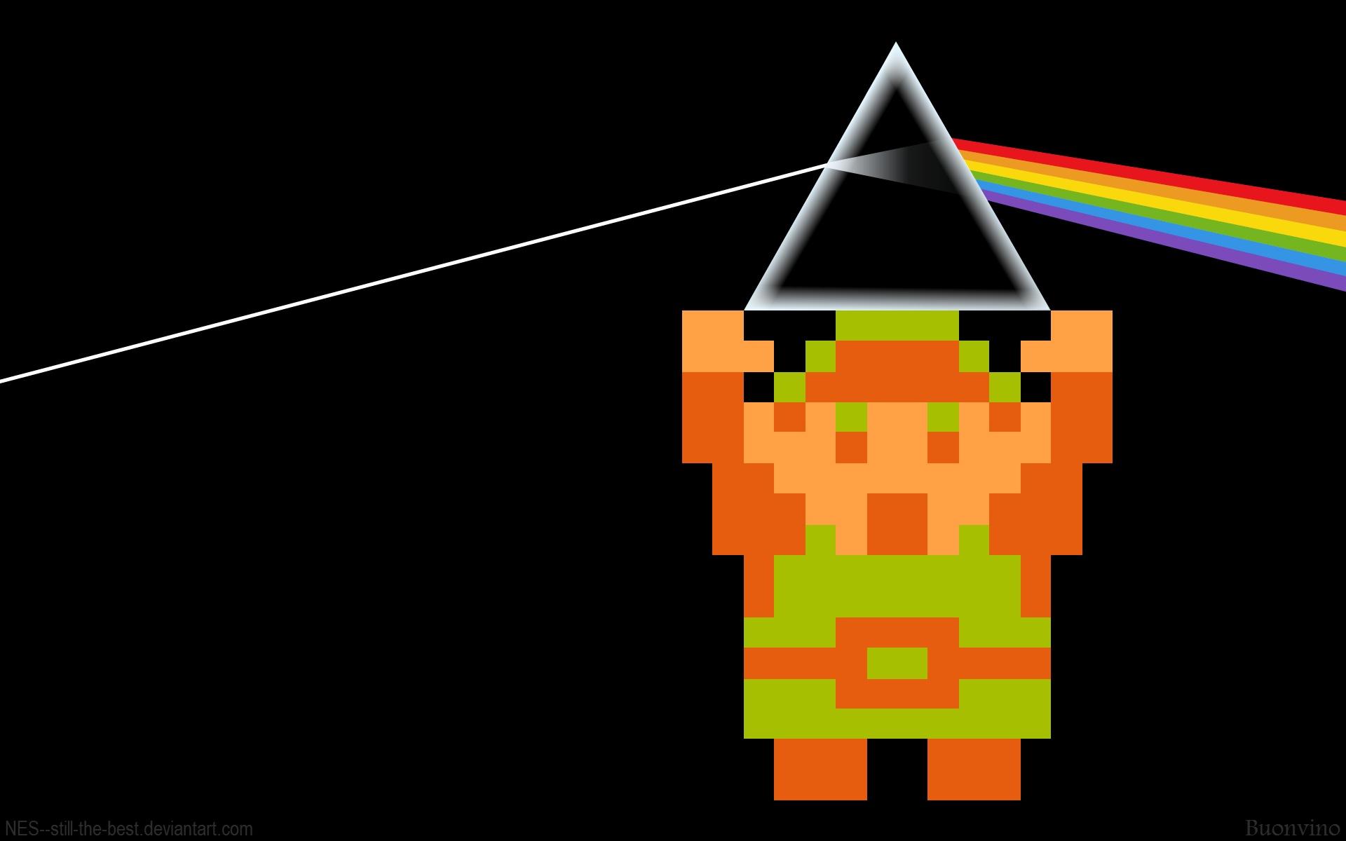 Video Games Pink Floyd Link Prism The Legend Of Zelda