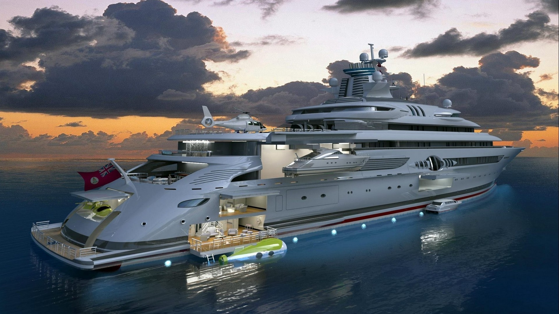 water, clouds, ships, vehicles, yachts - desktop wallpaper