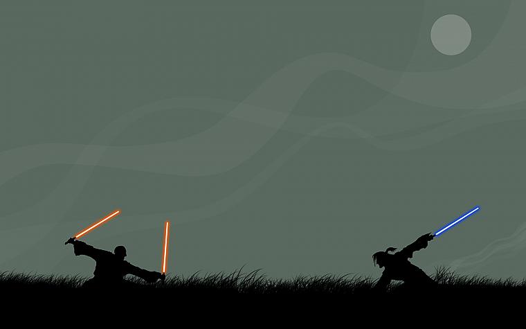 Star Wars Lightsabers Silhouettes Simplistic Free Wallpaper Wallpaperjam Com
