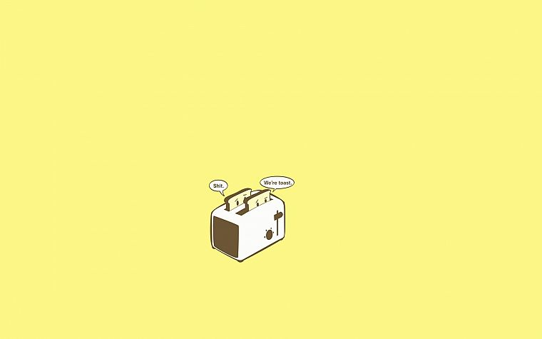cartoons, funny, toast, toaster, simple background - desktop wallpaper