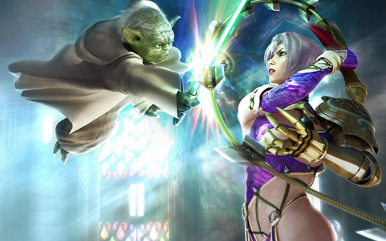Soul Calibur, Yoda, Ivy Valentine - desktop wallpaper