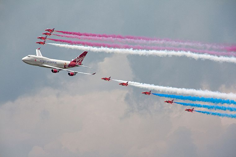aircraft, Red Arrows, airliners - desktop wallpaper