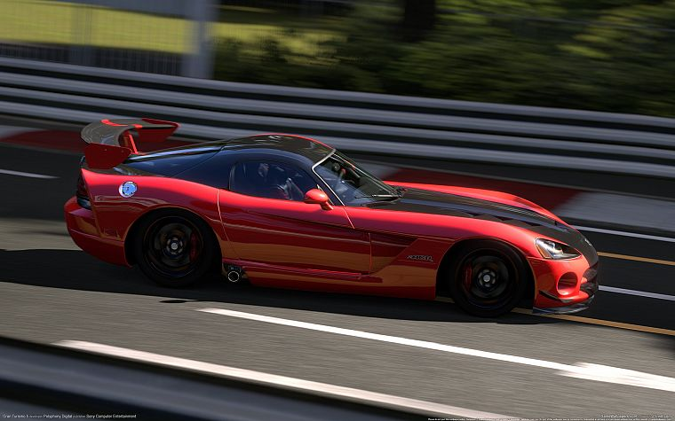 video games, 3D, Gran Turismo 5, Dodge Viper SRT-10 ACR - desktop wallpaper
