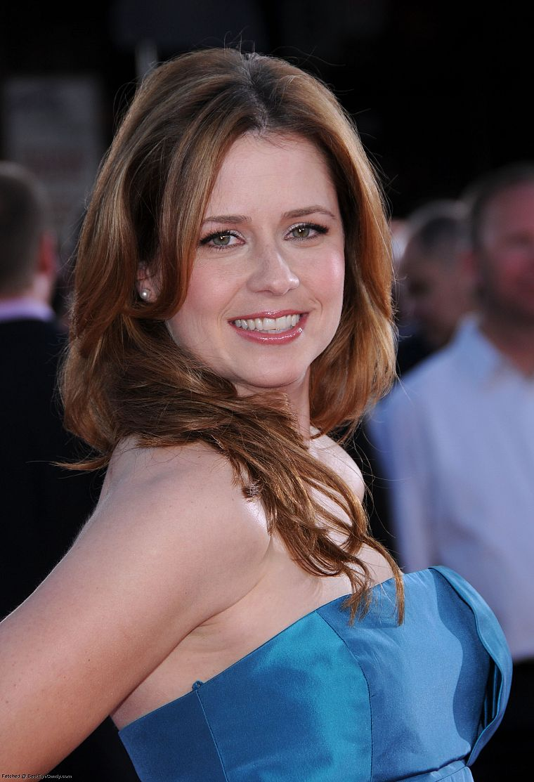 women, actress, Jenna Fischer, smiling - desktop wallpaper