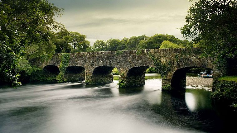 bridges, Ireland, rivers, National Park - desktop wallpaper