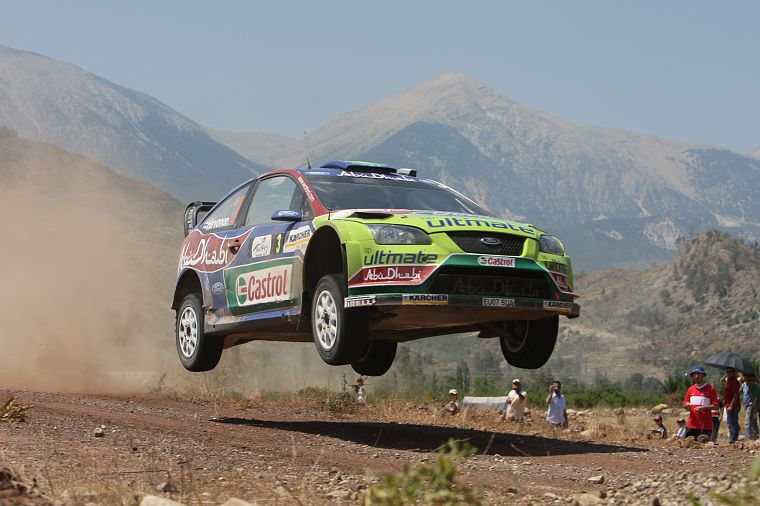 Mountains, Cars, Jumping, Dust, Rally, Airborne, Racing, Ford Racing