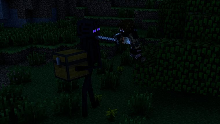 Minecraft, Enderman - desktop wallpaper