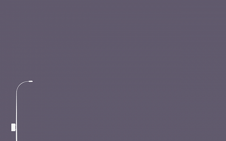 minimalistic, purple, lamp posts - desktop wallpaper