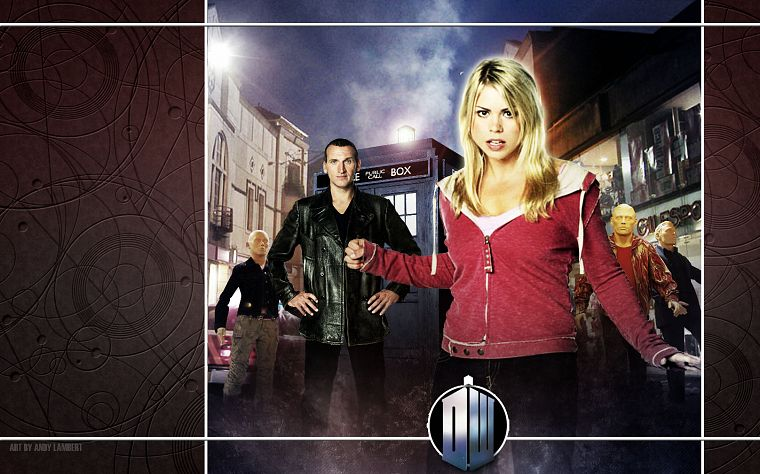 Rose Tyler, TARDIS, Billie Piper, Doctor Who, Christopher Eccleston, Ninth Doctor - desktop wallpaper