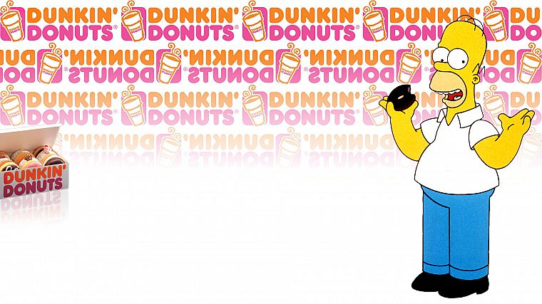 Homer Simpson, donuts, The Simpsons, Dunkin' Donuts - desktop wallpaper