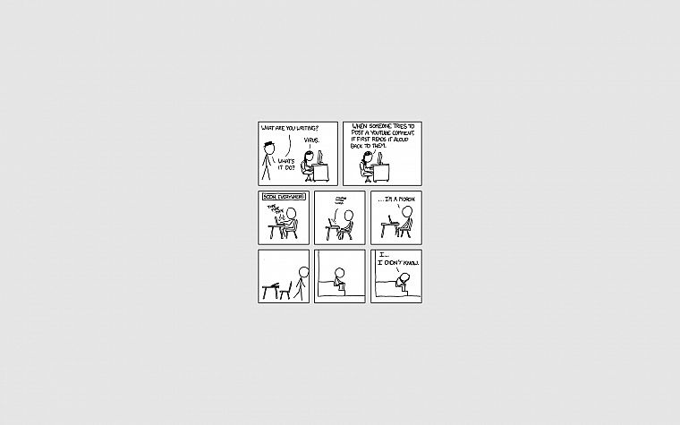 xkcd, YouTube, stick figures - desktop wallpaper