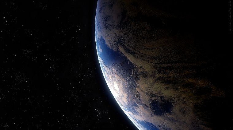 outer space, planets, Earth - desktop wallpaper