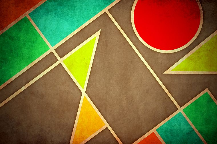 abstract, multicolor, geometry - desktop wallpaper