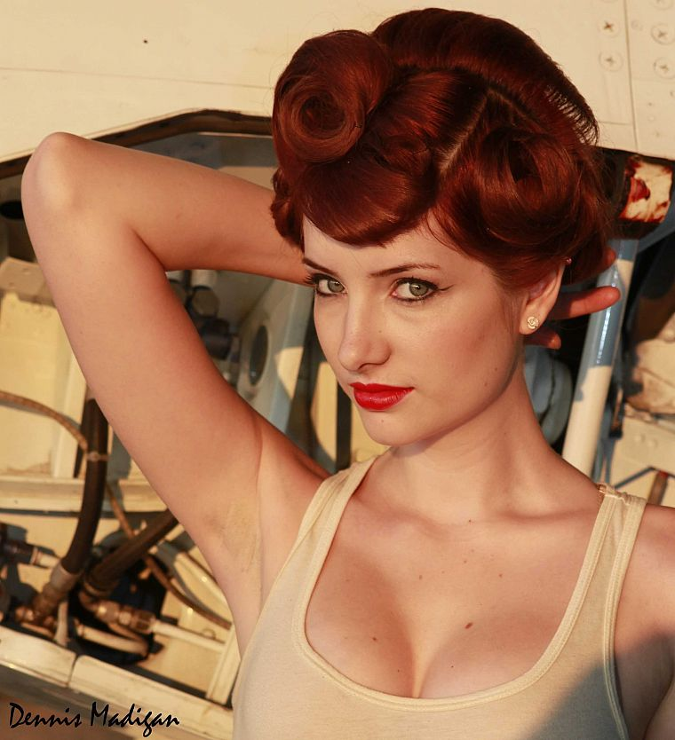 women, Susan Coffey, redheads, pinups - desktop wallpaper
