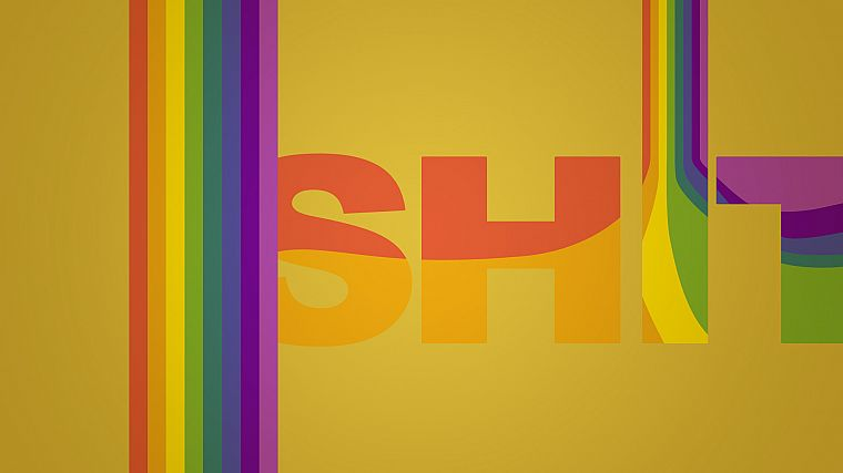 typography, rainbows, TagNotAllowedTooSubjective - desktop wallpaper