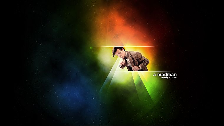outer space, text, Matt Smith, rainbows, Eleventh Doctor, Doctor Who - desktop wallpaper
