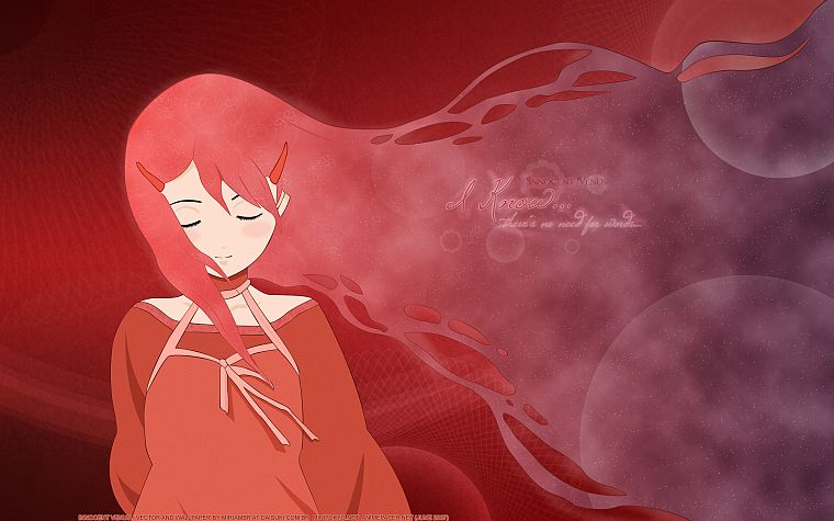 red, redheads, long hair, red dress, anime, anime girls, red background, Innocent Venus, Nobuto Sana - desktop wallpaper