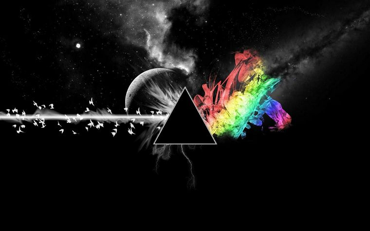 abstract, outer space, Pink Floyd, The Dark Side Of The Moon - desktop wallpaper
