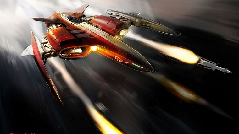 spaceships, artwork, vehicles - desktop wallpaper