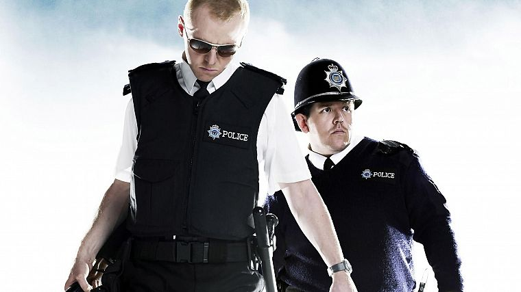 movies, Hot Fuzz, Simon Pegg, Nick Frost - desktop wallpaper