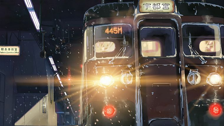 trains, Makoto Shinkai, 5 Centimeters Per Second - desktop wallpaper
