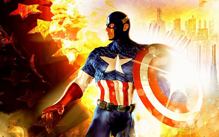 comics, Captain America, Marvel Comics - desktop wallpaper