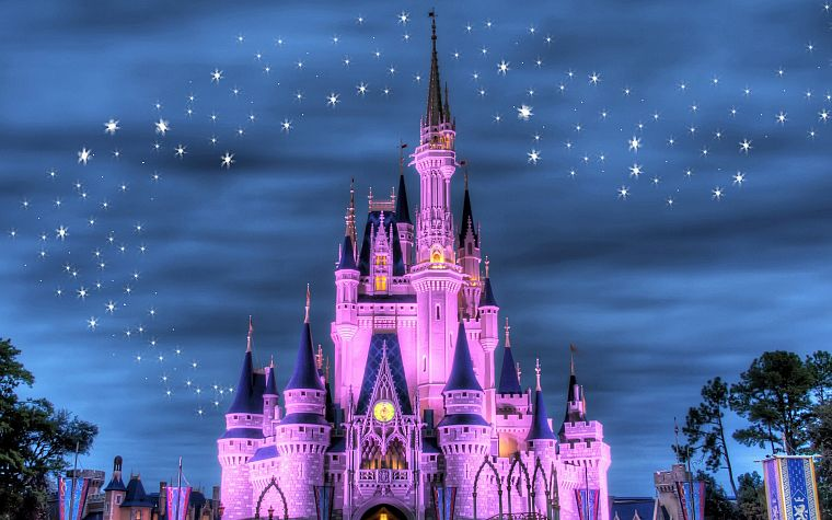 Disney Company, castles, magical - desktop wallpaper