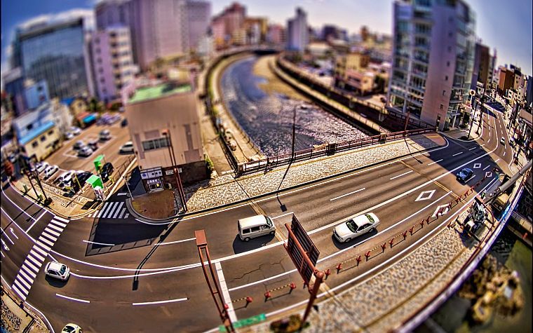 cityscapes, buildings, tilt-shift - desktop wallpaper