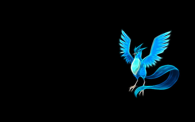 Pokemon, Articuno, simple background, black background - desktop wallpaper