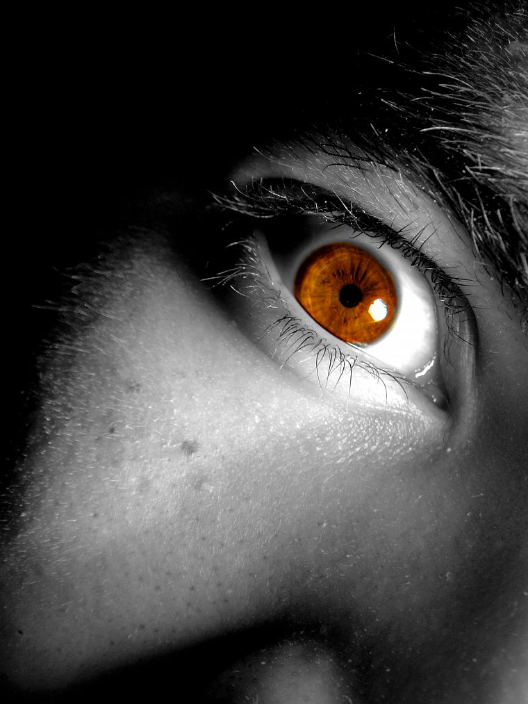 eyes, selective coloring - desktop wallpaper