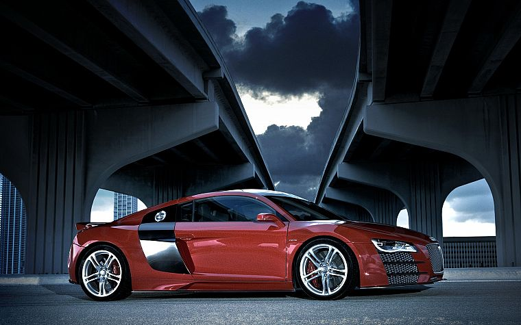 cars, Audi, vehicles, Audi R8, sports cars, V12 TDI - desktop wallpaper