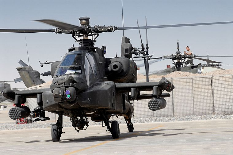 aircraft, military, helicopters, vehicles, AH-64 Apache - desktop wallpaper