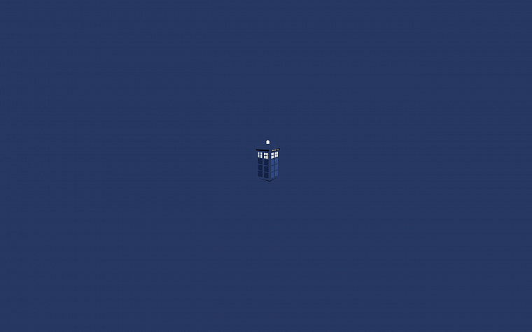 minimalistic, TARDIS, Doctor Who, stylized - desktop wallpaper