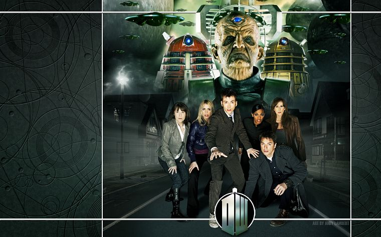 Rose Tyler, David Tennant, Dalek, Billie Piper, Doctor Who, Freema Agyeman, Catherine Tate, Martha Jones, Donna Noble, Tenth Doctor - desktop wallpaper