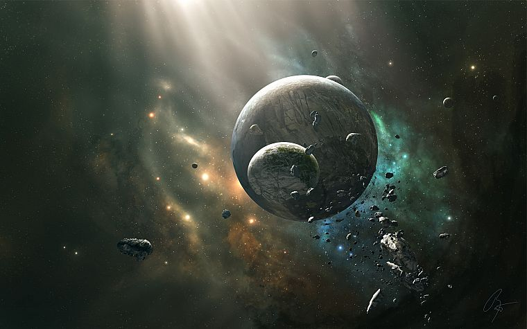 outer space, planets, JoeJesus, Josef Barton - desktop wallpaper