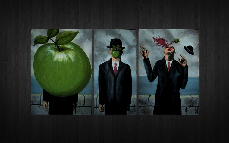 parody, Rene Magritte, Son of Man - desktop wallpaper
