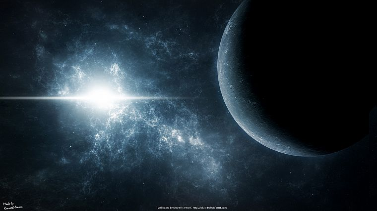 outer space, stars, planets - desktop wallpaper