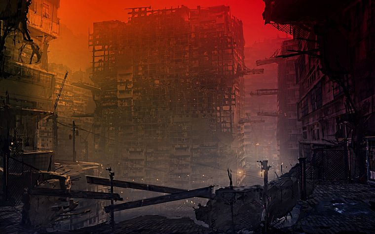 cityscapes, post-apocalyptic, architecture, buildings, artwork, apocalyptic - desktop wallpaper
