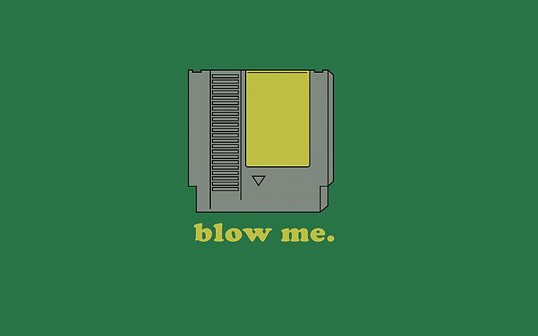 Nintendo, funny, blow me - desktop wallpaper