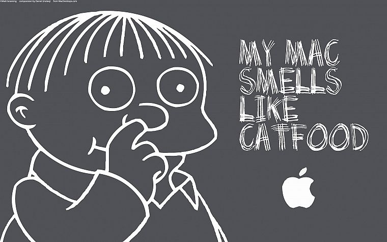iMac, The Simpsons, Ralph Wiggum - desktop wallpaper
