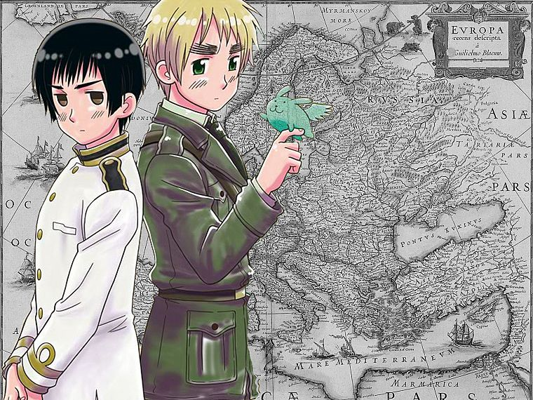 Japan, England, maps, anime, Axis Powers Hetalia - desktop wallpaper