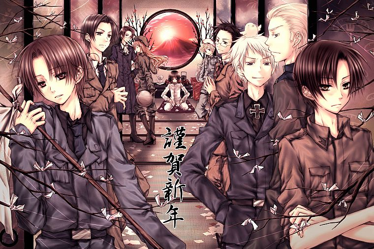 Japan, Germany, Austria, Hungary, Italy, Finland, anime, Prussia, Axis Powers Hetalia - desktop wallpaper