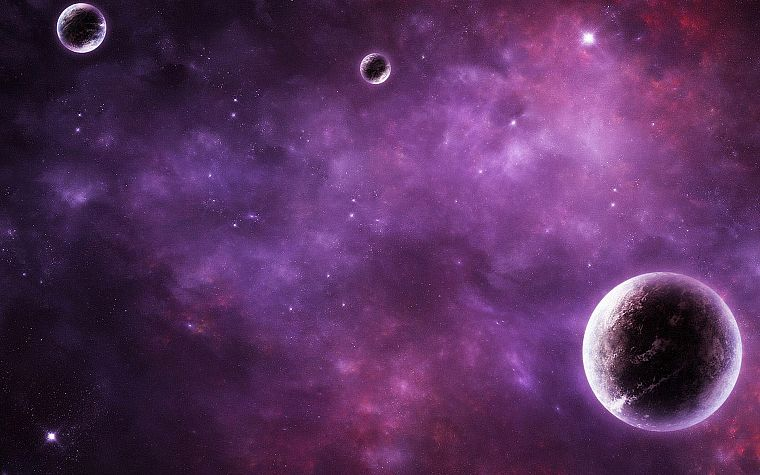 outer space, planets, the universe, journey - desktop wallpaper