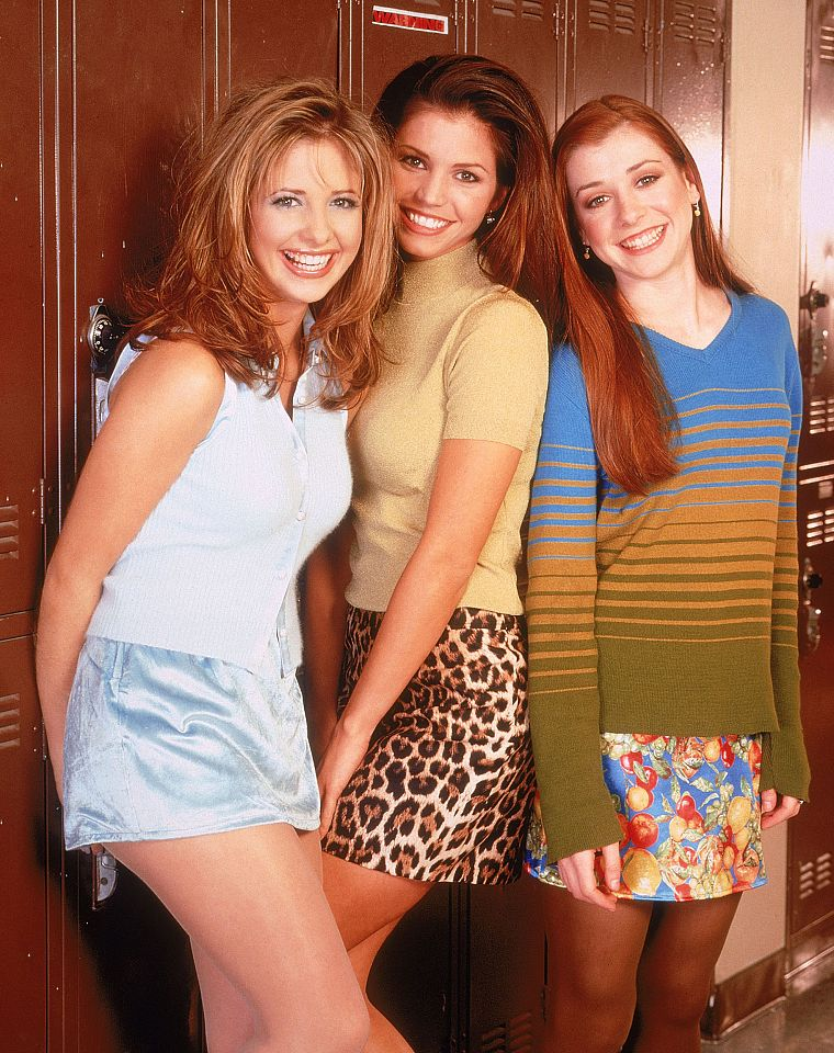 Alyson Hannigan, TV, Sarah Michelle Gellar, Buffy the Vampire Slayer, Charisma Carpenter, Buffy Summers, Willow Rosenberg - desktop wallpaper