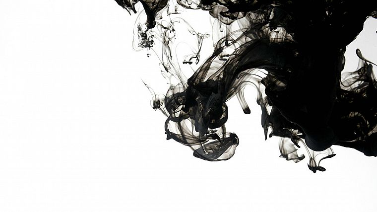 abstract, black, smoke, monochrome - desktop wallpaper