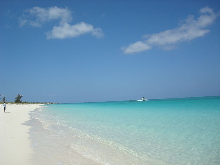 water, shore, boats, vehicles, Turks and Caicos islands, beaches - desktop wallpaper