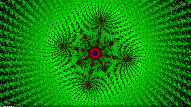 green, abstract, fractals, psychedelic - desktop wallpaper
