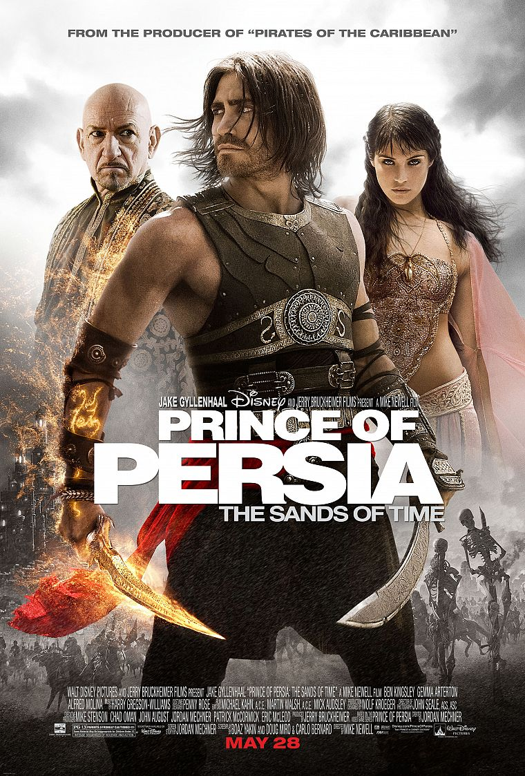 Prince of Persia, Gemma Arterton, Jake Gyllenhaal, movie posters, Ben Kingsley - desktop wallpaper