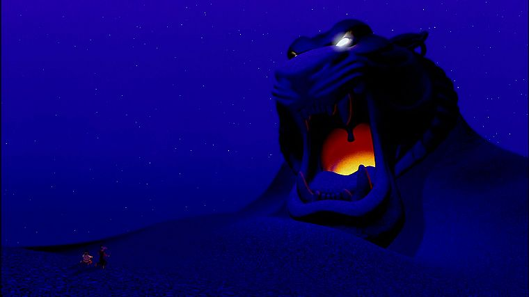 Disney Company, lions, Aladdin, blue background - desktop wallpaper